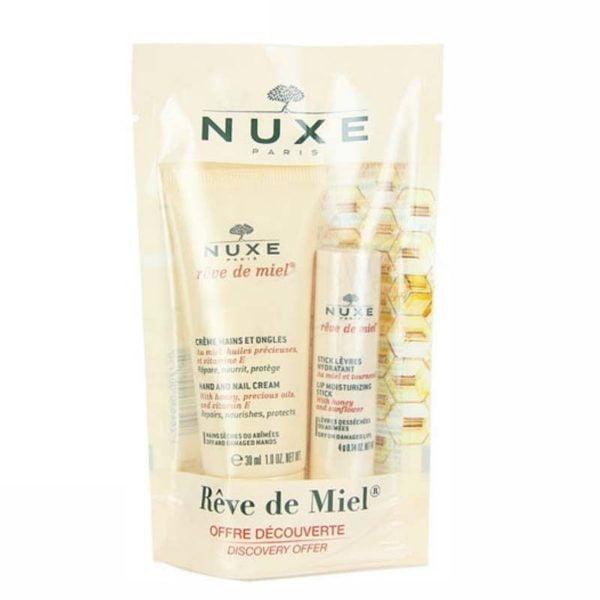 Nuxe Rêve De Miel Crema Manos Y Uñas 30 Ml + Stick Labial Hidratante 4 G | Farmacia Sant Ermengol