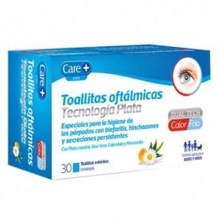 Care + Toallitas Oftalmicas 30 Toallitas Tecnologia Plata   Farmacia Sant Ermengol