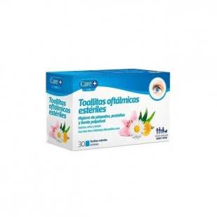 Care + Toallitas Oftalmicas Esteriles 30 Toallitas   Farmacia Sant Ermengol
