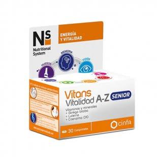 Ns Vitans Vitalidad A-Z 30 Comprimidos | Farmacia Sant Ermengol