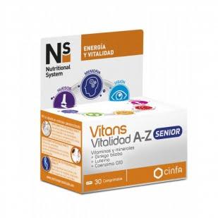 Ns Vitans Vitalidad A-Z Senior 30 Comprimidos | Farmacia Sant Ermengol