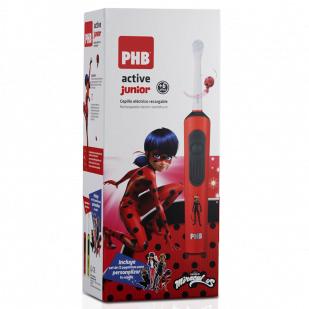 Phb Active Junior Cepillo Eléctrico Recargable + 6Años Miraculous Rojo